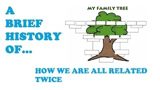 A Brief History of how we are all related twice! A look at ancestry to see how we are all related twice through our family tree.
