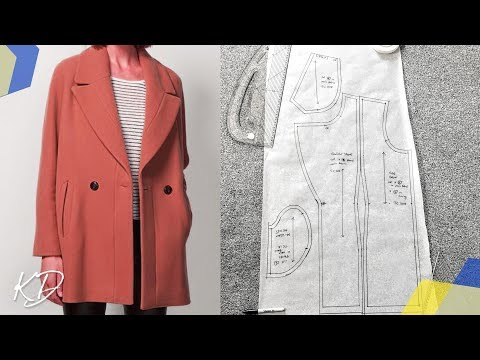 SEMI FITTED COAT PATTERN TUTORIAL | KIM DAVE