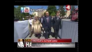 Erdoğan Kayseri`de Şoka Uğradı!