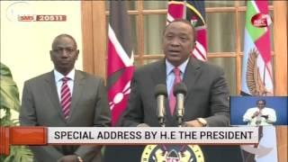 President Uhuru Kenyatta's Full Speech On Cabinet Reshuffle