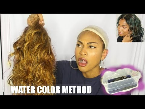 Hair color - WATER COLOR METHOD ON FRIED BLEACHED HAIR  Will It Work?!