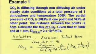 Mod-01 Lec-04 Steady state molecular diffusion in fluids Part I