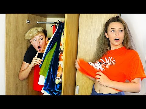 I Spent the Night in my Girlfriends House & She had No Idea... (24 Hour Challenge)