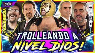 Videgaray y Estaca con Súper Escorpión Dorado al Volante.