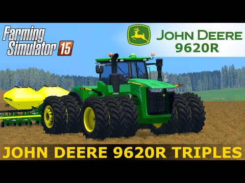 John Deere 9620R Triple wheels extreme terrain