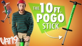 Bounce 10 ft. high with this pogo stick!