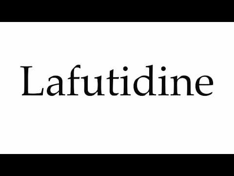How to Pronounce Lafutidine