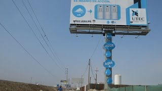 Clear Channel Peru: World's first water-making billboard