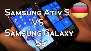 Samsung Ativ S Vs Samsung Galaxy S3 - Vergleichstest [Deutsch - German]