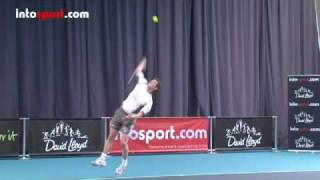 Tennis Highlights, Video - Tennis Serve- Topspin Serve Technique