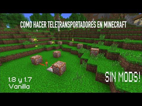 Como hacer Teletransportadores en Minecraft [Muy Fácil][1.8]