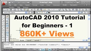 AutoCAD Basics Online Beginners Quick Video Tutorial Lessons - 1
