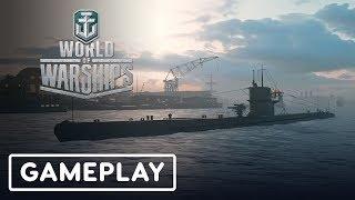 World of Warships: Submarine Gameplay (Work in Progress) - Gamescom 2019 by IGN