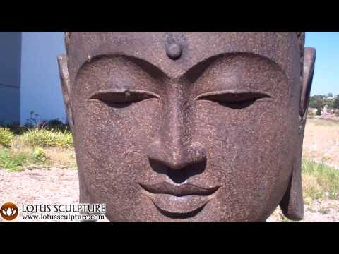 SOLD Stone Bust of Lord Buddha 35