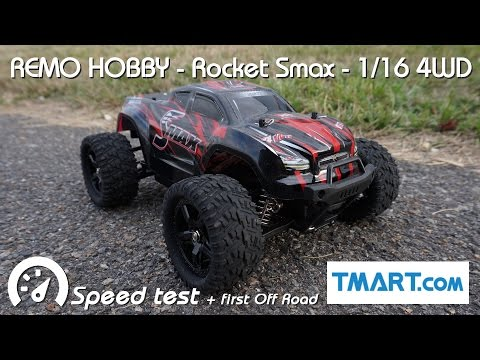 • REMO HOBBY - ROCKET Smax 1/16 4WD - Speed test •