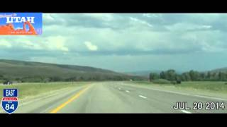 Evanston (WY) United States  City pictures : Ogden UT to Evanston WY Time Lapse Drive 2014