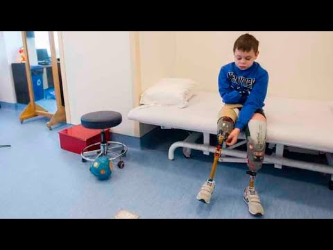 Eleven-year-old learning to walk after horrific accident