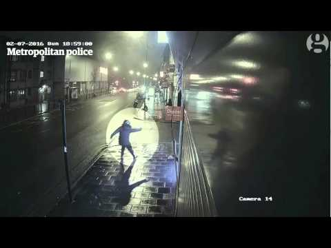 Brixton gun attack captured on CCTV