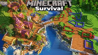 Planning the New Village Buildings in Minecraft 1.15 Survival Single Player