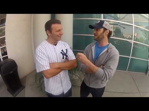 Actor/Comedian Josh Wolf Supporting Eddie Mata for the MLB FanCave