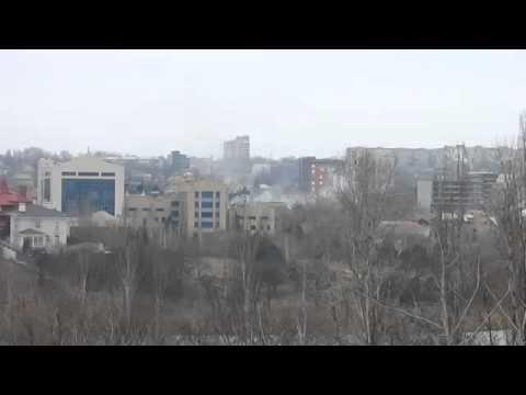 Обстрел Донецка, Донбасс, АТО, Украина