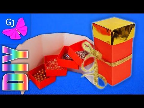 Оригами шкатулка сделать своими руками