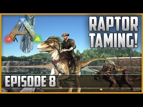 ARK: Survival Evolved - TAMING A RAPTOR!! - Episode 8