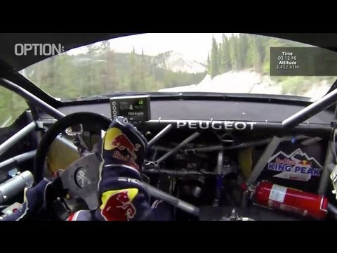 on board : s. loeb pikes peak su peugeot 208 t16
