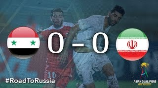 Syria held Islamic Republic of Iran to a 0-0 draw in their FIFA World Cup Russia 2018 qualifier at a drenched Tuanku Abdul Rahman Stadium in Malaysia on Tues...