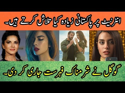 Top 10 Most Searched People and Movies On Google In Pakistan 2018