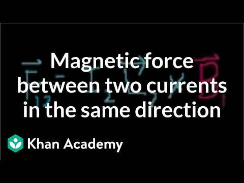 magnetic force between two currents going in the same directionmagnetic force between two currents going in the same direction (video) khan academy