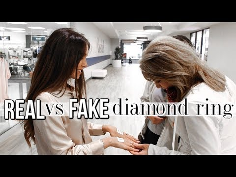 Testing My REAL vs FAKE Diamond Ring on Strangers!