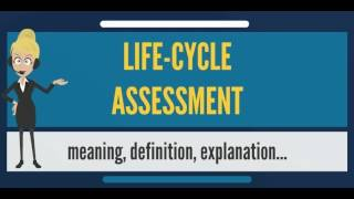 What is LIFE-CYCLE ASSESSMENT? What does LIFE-CYCLE ASSESSMENT mean?