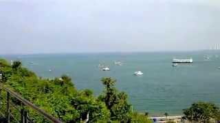 タイの自然景観パタヤ湾