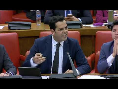 Juan Diego Requena durante la Comisión de Transici...