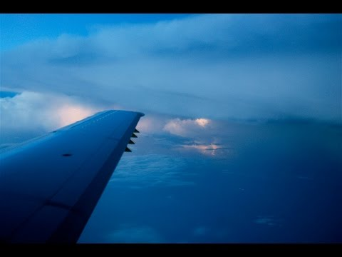WATCH: Airplane Passenger Records MASSIVE Lightning Storm