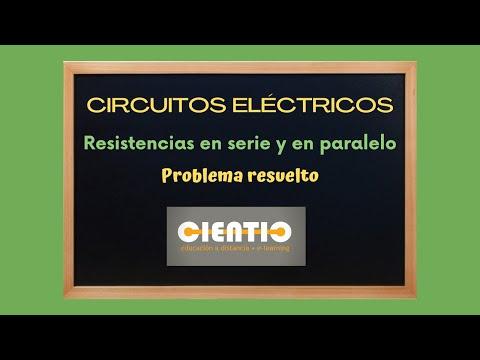 Circuito eléctrico - Resistencias en serie y paralelo - Problema resuelto 1.flv