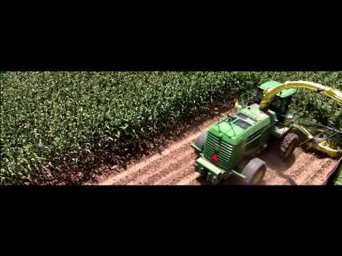 ensiladeira - Agricultural production made simple with the John Deere 7950 SPFH forage harvester with a 770-10R Cornhead. Also featuring the John Deere Windrow Pickup C Se...