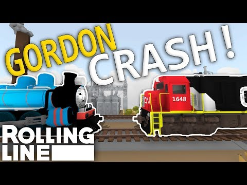 ALASKAN GORDON CRASH! - Rolling Line VR Toy Train Simulator  -  Map (ALASKA)