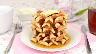 Learn how to make homemade waffles from scratch. These waffles are easy to make and taste great! They can be served with maple syrup, honey, chocolate, whipped cream, ice cream, jam, or whatever you like!▼ INGREDIENTS LIST:- 1 egg- 125 ml (4.2 oz) of whole milk- 50 g (1.7 oz) of sugar- 1 1/2 teaspoon of active dry yeast- 1 teaspoon of vanilla extract- 125 g (4.4 oz) of wheat flour- 50 g (1.7 oz) of melted butter- 1/4 teaspoon of salt- Maple syrup, for garnish (optional)⇨ Music ⇦Life of Riley by Kevin MacLeod is licensed under a Creative Commons Attribution license (https://creativecommons.org/licenses/by/4.0/)Source: http://incompetech.com/music/royalty-free/index.html?isrc=USUAN1400054Artist: http://incompetech.com/⇨ Subscribe to Very Easy Recipes! ⇦http://www.youtube.com/subscription_center?add_user=VeryEasyRecipes⇨ Follow us on Social Networks! ⇦- Twitter: http://twitter.com/VeryEasyRecipes- Facebook: http://facebook.com/VeryEasyRecipes- Instagram: http://instagram.com/VeryEasyRecipes- Google+: http://plus.google.com/+VeryEasyRecipesTweet and tag us in your recipe attempts!P.S. We are not native speakers of English, so we apologize if there are any incomprehensible words, typos or grammatical errors in this video. We hope you enjoy the recipe!