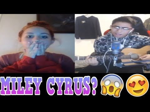 YOUNOW SINGING | IS THAT MILEY CYRUS? [LIT REACTIONS] [2017]