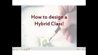Designing a Partially Online (Hybrid) Course - What Goes Where and When (OTC13)