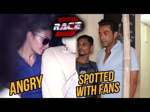 Race 3 Cast Spotted | Jacqueline Fernandez Angry,