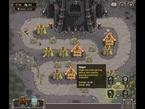 Kingdom Rush - Level 12 (Campaign) - The Dark Tower
