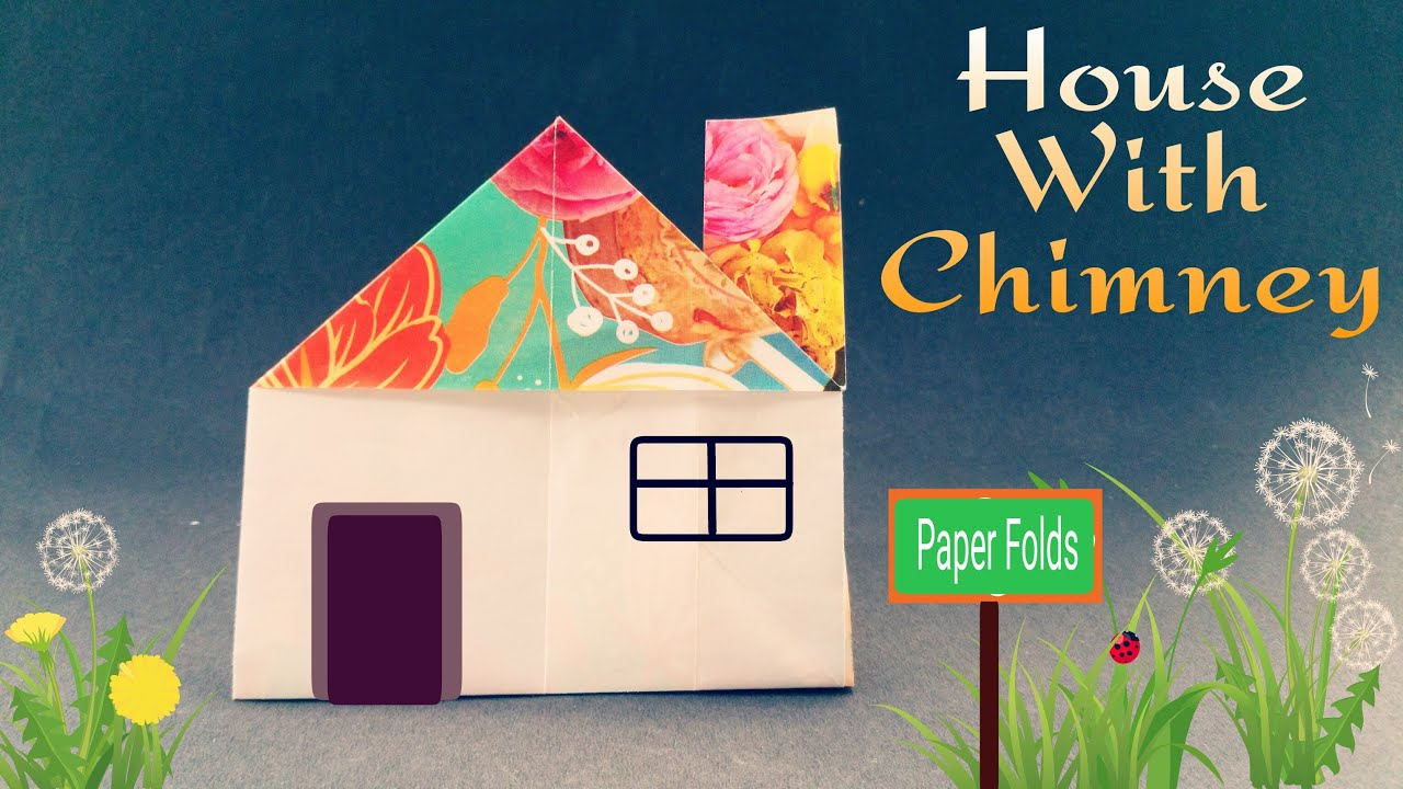 How To Make A Paper House With Chimney Easy Origami Tutorial
