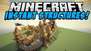 Minecraft Mods - INSTANT STRUCTURES MOD! (MOB TRAP, HOUSES AND MORE!) - Instant House Mod Showcase
