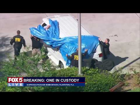 FOX 5 LIVE (10/26): Cesar Sayoc, 56, of Aventura, Fla. is arrested as suspected package bomber