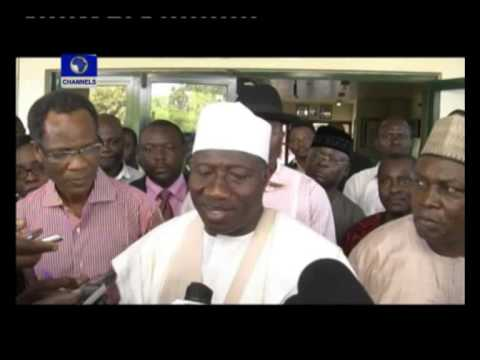 Video:Taraba State governor is stable &#8211; President Jonathan (ChannelsTV)