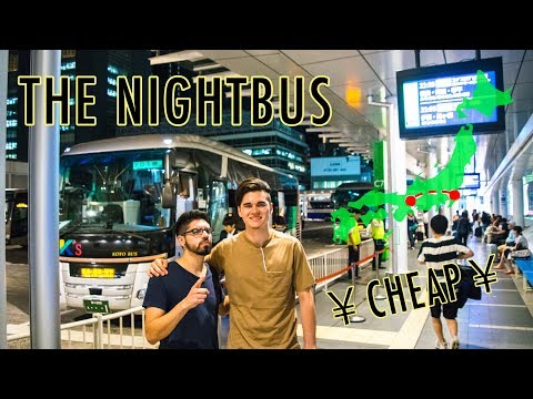 The CHEAPEST Way to Travel Japan: NIGHT BUS 夜行バス