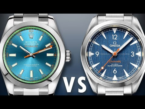 ROLEX Vs OMEGA: Milgauss Z-Blue Vs Railmaster Denim: 116400GV 220.10.40.20.03.001